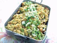 Gemüse-Auflauf mit Pute und Reis