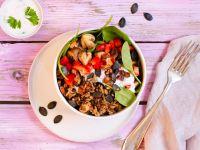 Gemüse-Bowl mit reis-fit Feelgood Linsen mit Reis & Gemüse Rezept