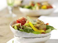 Gemüse-Brotsalat Rezept