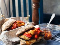 Gemüse-Burger mit Käse