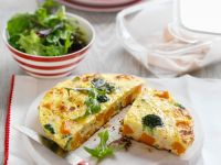 Gemüse-Frittata mit Kürbis Rezept