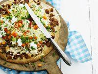 Gemüse-Hackfleischpizza Rezept