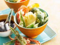 Gemüse im Backteig frittiert Rezept