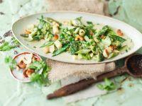 Gemüse mit Cashewkernen in grüner Currysauce Rezept