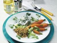 Gemüse mit Grünkern und Kräuterquark Rezept