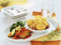 Gemüse mit Haselnusskartoffeln Rezept