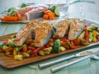 Gemüse mit Lachskoteletts Rezept