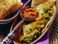 Gemüse mit Linsen und Fladen Rezept