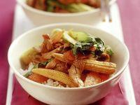 Gemüse mit Schweinefleisch aus dem Wok Rezept