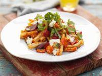 Gemüse-Nudeln mit Käse Rezept