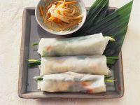 Gemüse-Reispapierröllchen Rezept