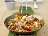 Gemüse-Reispfanne mit Meeresfrüchten Rezept