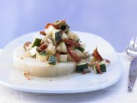 Gemüse-Relish auf Sellerie Rezept