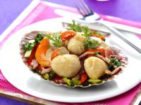 Gemüse-Specksalat mit Muscheln Rezept
