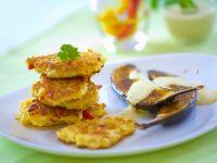 Gemüsebratlinge mit Auberginenscheiben Rezept