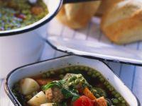 Gemüseeintopf mit Fleischbällchen Rezept