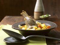 Gemüseeintopf mit Lammkeule Rezept