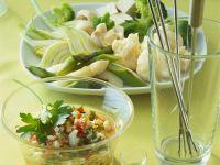 Gemüsefondue mit Eier-Kräutersauce Rezept