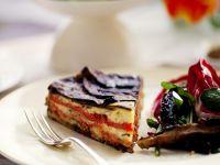 Gemüsekuchen mit Aubergine und Paprika Rezept
