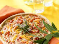 Gemüsekuchen mit Käsecreme Rezept