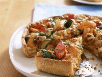 Gemüsekuchen mit Parmesan Rezept