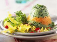 Gemüsemousse mit Blattsalat Rezept