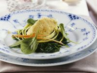 Gemüsenockerl mit frischem Spinat Rezept