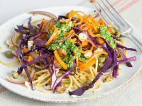 Gemüsenudeln mit Petersilien-Pesto Rezept