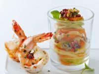 Gemüsenudeln mit Shrimps Rezept