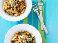 Gemüsepasta mit Kichererbsen Rezept