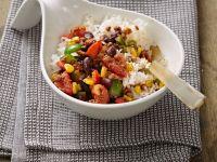 Gemüsepfanne mit Reis Rezept