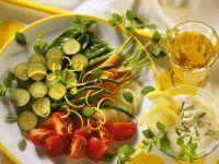 Gemüseplatte mit Mascarponecreme