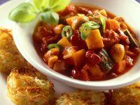 Gemüseragout mit Kartoffelrösti Rezept