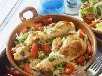 Gemüsereis mit Hähnchen Rezept