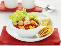 Gemüsesalat mit Pfannküchlein Rezept