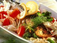 Gemüsesalat mit Räucherfisch Rezept