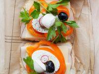 Gemüsesandwich mit Mozzarella Rezept