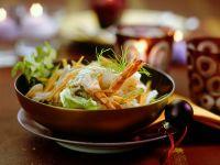 Gemüseslat mit Garnelen Rezept
