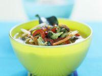 Gemüsesuppe mit Curry und Kokos Rezept