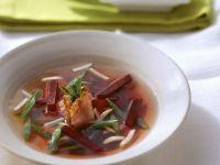 Gemüsesuppe mit Ente Rezept