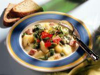 Gemüsesuppe mit Kasseler