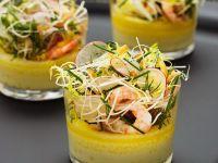 Gemüsesuppe mit Krabben Rezept