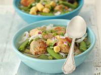 Gemüsesuppe mit Nudeln und Fleischbällchen Rezept