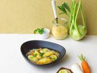 Gemüsesuppe mit Polentanocken