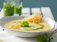 Gemüsesuppe mit Radieschenpesto Rezept
