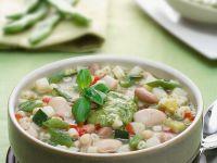 Gemüsesuppe mit weißen Bohnen Rezept