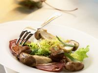 Geräucherte Entenbrust mit Pilzen Rezept