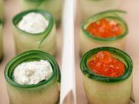 Gerollte gefüllte Zucchinihäppchen Rezept