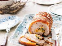 Gerollter Schweinebraten mit orientalischer Füllung