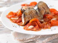 Geschmorte Makrele mit Paprika Rezept